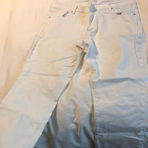 Loft curvy kick crop - white